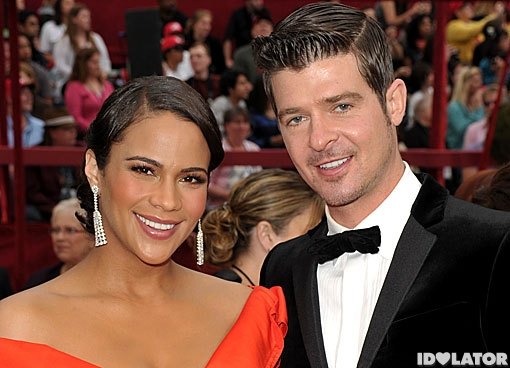 Robin Thicke Oscars Red Carpet