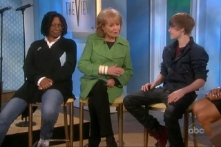 Justin Bieber Gets Flirty With Barbara Walters On 'The View'