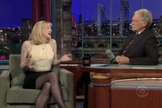 Courtney Love Discusses Past Demons On 'Letterman,' Keeps Her Clothes On