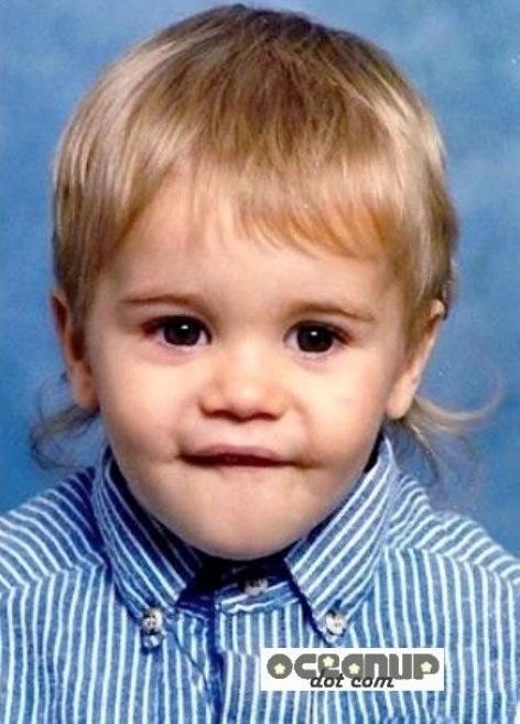 Justin Bieber baby photo