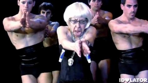 Old Lady Gaga Alejandro spoof Jackie Hoffman Nick Adams