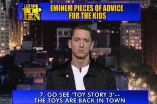 Eminem Gives Advice To Kids On The 'Late Show'