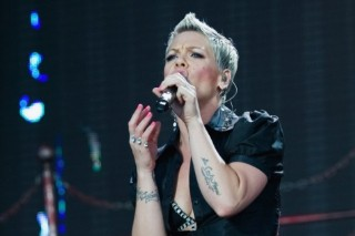 Pink Goes On With The Show After Last Night's Fall