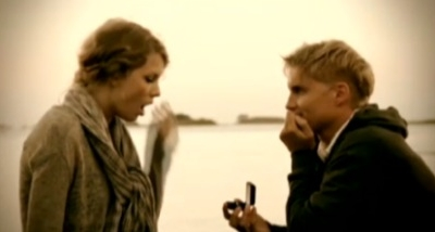Taylor Swift Toby Hemingway Mine music video Speak Now