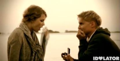 Taylor Swift Toby Hemingway Mine music video Speak Now