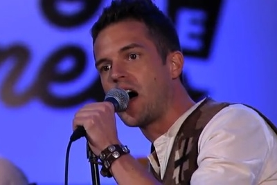 Jimmy Kimmel Brandon Flowers Crossfire Flamingo