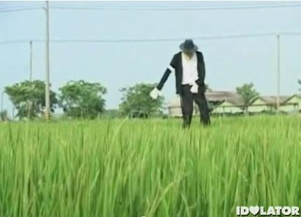 Michael Jackson scarecrow Taiwan