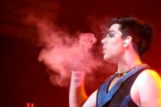 Adam Lambert Goes Green, Smokes On Stage In Amsterdam