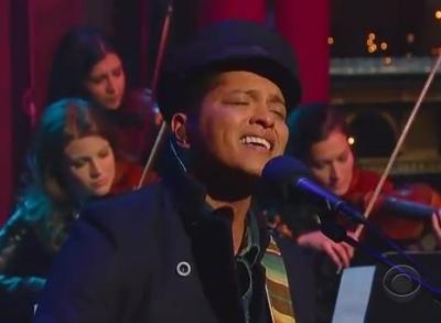 Bruno Mars Grenade Late Show David Letterman