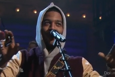 Kid Cudi Late Night Jimmy Fallon Maniac Cage St. Vincent
