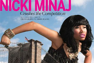 A 50-Foot Nicki Minaj Attacks 'EBONY' In A Larger Than Life Photo Shoot