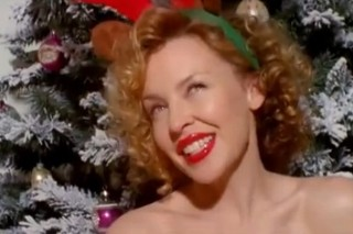 "Kylie Minogue Is Very Merry In Her ""Santa Baby"" Video"