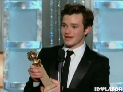 Chris Colfer Glee Golden Globes