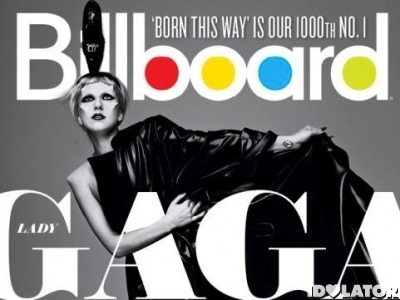 Billboard Lady Gaga Born This Way 1000 chart