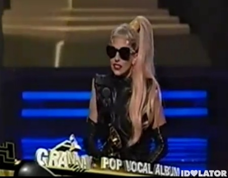 Lady Gaga Grammy Awards Best Pop Vocal Album The Fame Monster win winner acceptance speech
