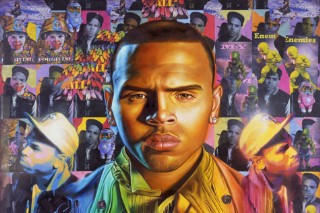 Chris Brown Gets Tagged On His 'F.A.M.E' Album Cover