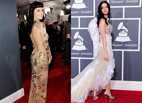 Katy Perry 2011 Vs. 2010 Grammy Red Carpet