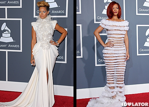 rihanna grammy fashion