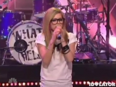 Avril Lavigne What The Hell Tonight Show Jay Leno