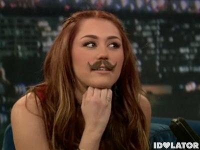 miley mustache