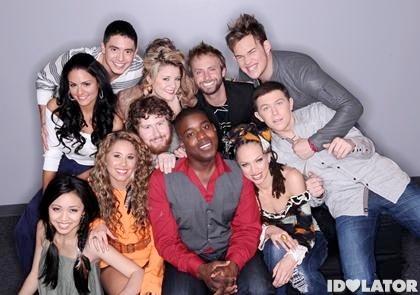 American Idol Season 10 2011 Top 11 contestants Jacob Lusk Haley Reinhart Scotty McCreery Casey Abrams