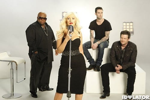 The Voice coaches Christina Aguilera Adam Levine Cee Lo Green Blake Shelton