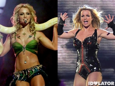 britney spears then and now