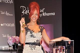 Rihanna Peddles Her Reb'l Fleur Perfume (PHOTOS)
