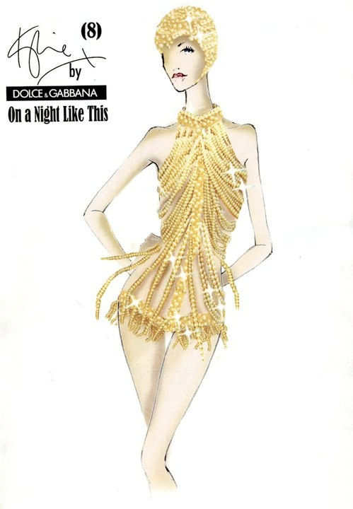 Kylie Minogue Dolce Gabbana sketch North American Tour Bonus Edition