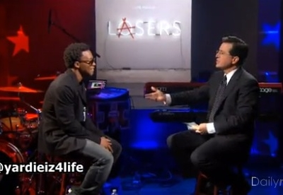 Lupe Fiasco The Colbert Report Stephen Colbert Lasers
