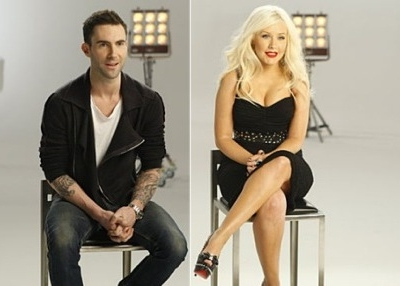 Adam Levine Christina Aguilera The Voice Maroon 5