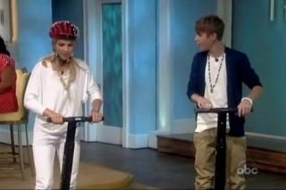 Justin Bieber Segways Onto 'The View'
