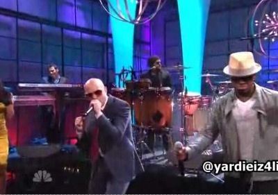 Pitbull Ne-Yo Nayer Give Me Everything Tonight Show Jay Leno