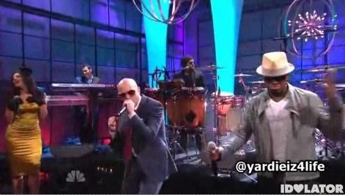 Pitbull Ne-Yo Nayer Give Me Everything Tonight Show Jay Leno