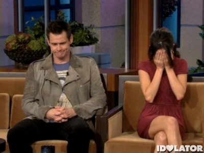 Selena Gomez Jim Carrey Tonight Show Jay Leno