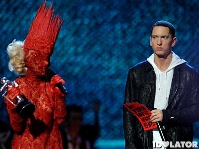 Eminem Goes Postal On Lady Gaga In New Bad Meets Evil ...