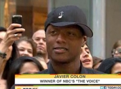 Javier Colon The Voice Today Show interview Adam Levine