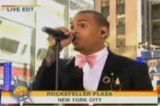 Chris Brown And His Bowtie Draw One Of The Biggest Crowds In 'Today Show' History