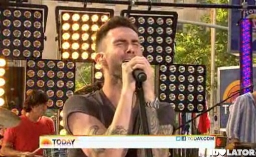 Adam Levine Maroon 5 Today Show Moves Like Jagger 2011