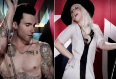 Maroon 5 Christina Aguilera Adam Levine Moves Like Jagger music video