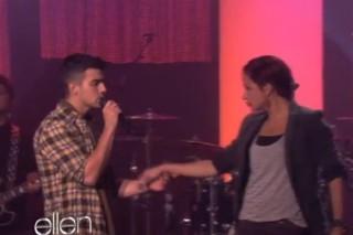 Joe Jonas And His Dancer Slink Around Ellen's Stage