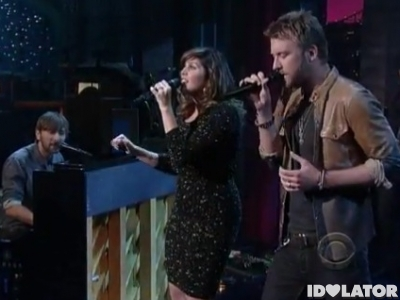 Lady Antebellum Late Show David Letterman Just A Kiss September 2011 Own The Night