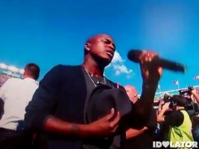 Ne-Yo National Anthem Star Spangled Banner september 11 2011