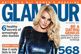 Britney Spears Covers 'Glamour' UK — And She Doesn't Look Happy About It (PHOTOS)