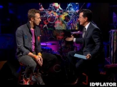 Coldplay Chris Martin Stephen Colbert Report Mylo Xyloto Paradise
