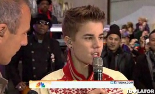 Justin Bieber Today Show November 2011 Never Say Never Thanksgiving