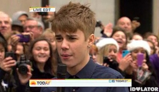 Justin Bieber Today Show paternity suit baby allegations Under The Mistletoe November 2011