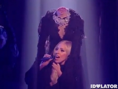 Lady Gaga The X Factor UK Marry The Night November 2011 headless head