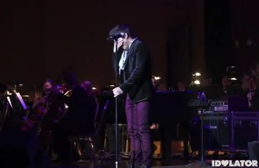 David Archuleta Salt Lake City crying stage Christmas mission announcement 2011