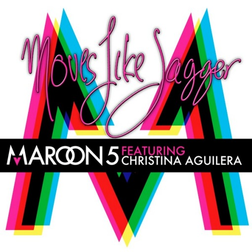 Maroon 5 Christina Aguilera Moves Like Jagger single cover